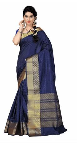 Classic royal blue saree