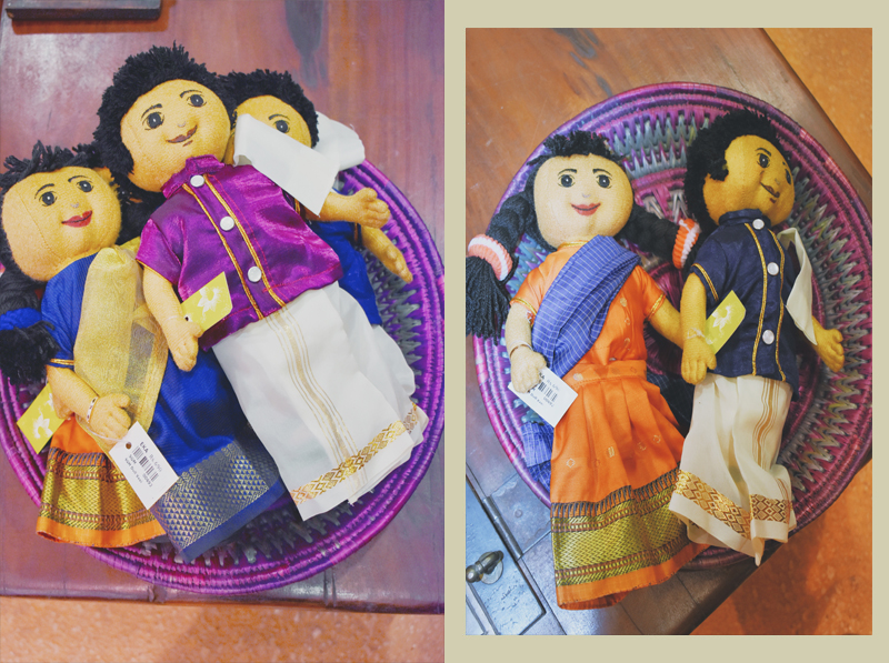 Adorable native South Indian dolls