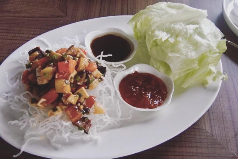 The veg lettuce wrap