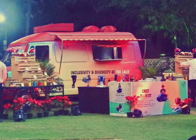 The colorful food truck