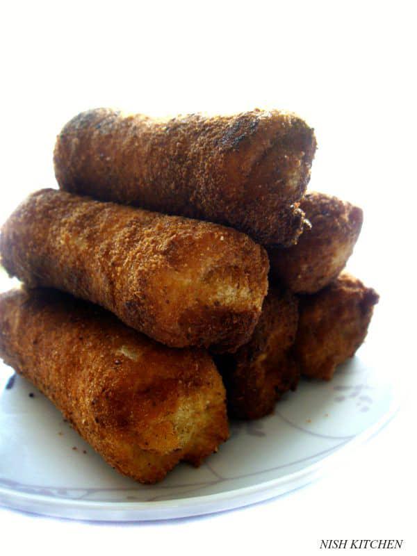 savory toast roll ups | kerala bread rolls | nish kitchen