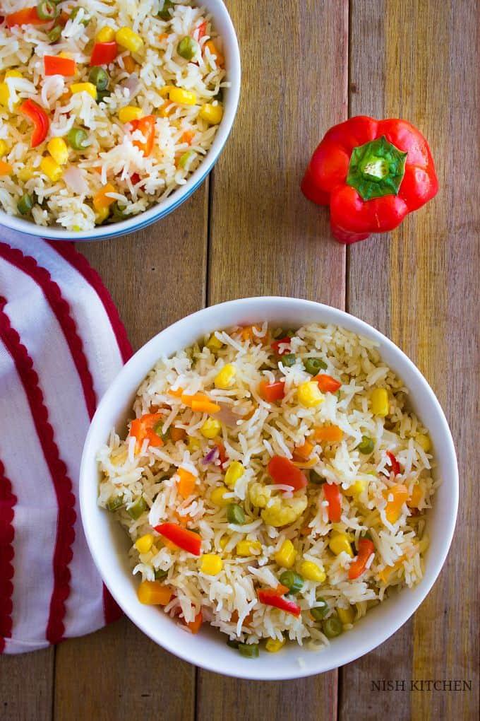 Panchranga pulao | Five color pulao | Nish Kitchen