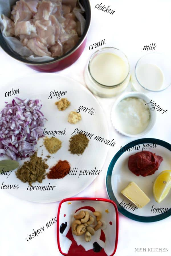 restaurant style butter chicken ingredients