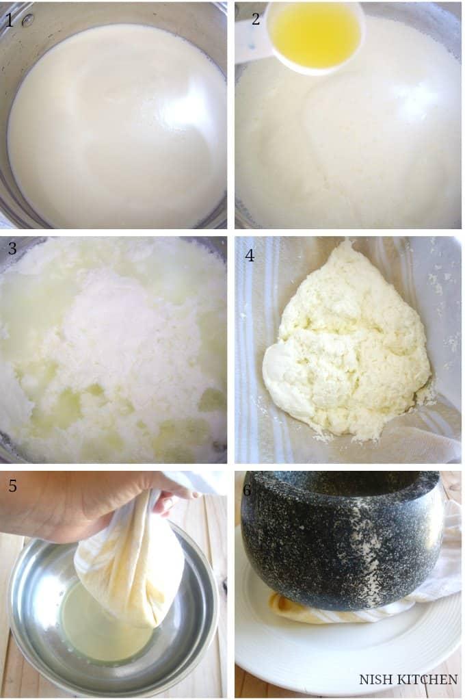 how to make paneer-homemade paneer recipe 1