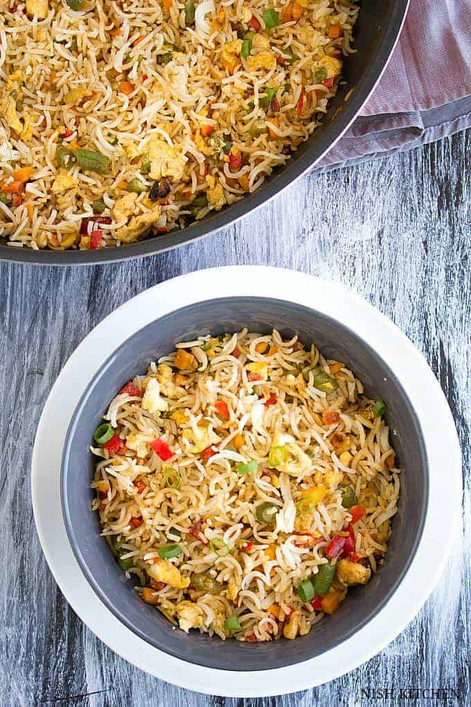 egg fried rice indian style
