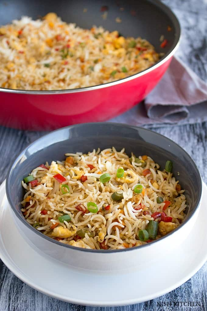 easy egg fried rice indian chinese recipe