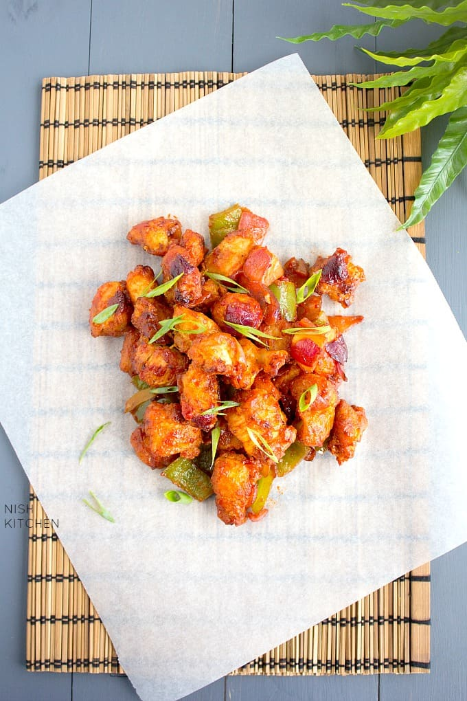restaurant style chicken manchurian dry recipe
