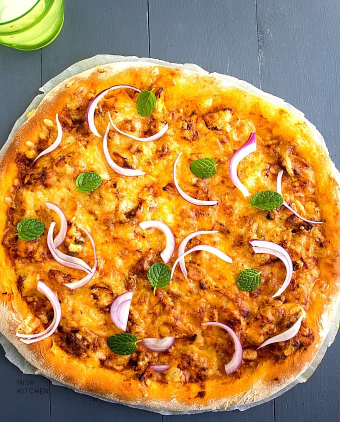 butter chicken pizza indian