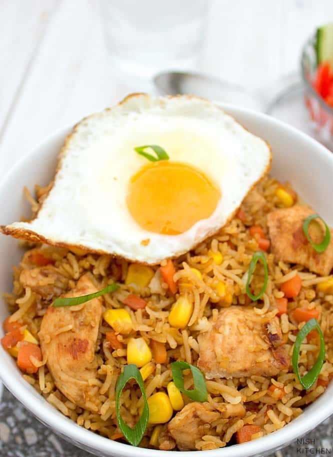 indonesian fried rice - nasi goreng