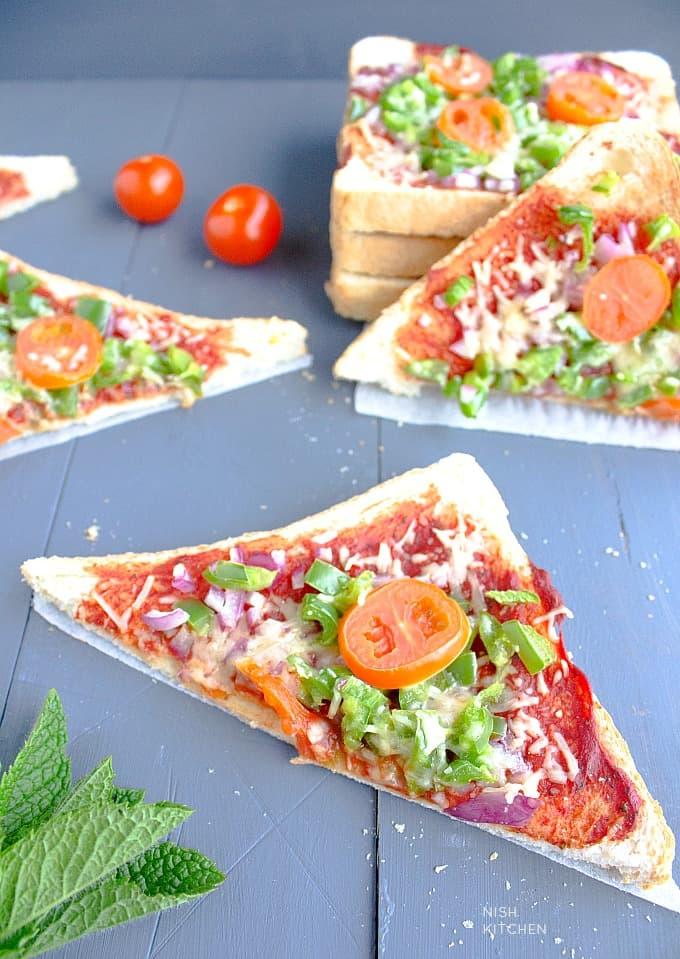 bread pizza recipe video