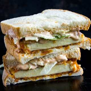 spicy paneer sandwich recipe with video