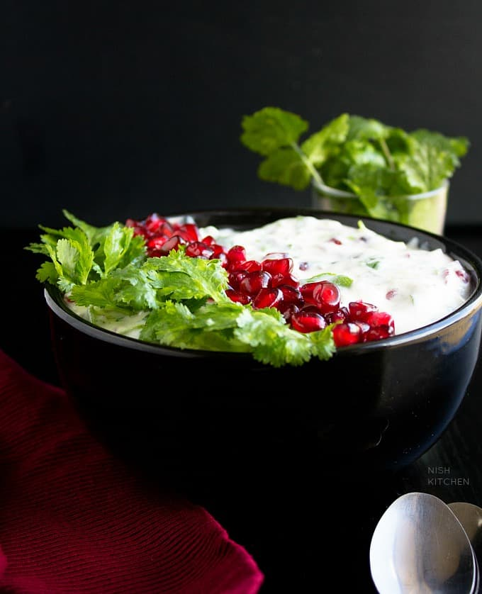 pomegranate raita recipe