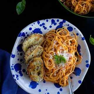 roasted red pepper pasta recipe video