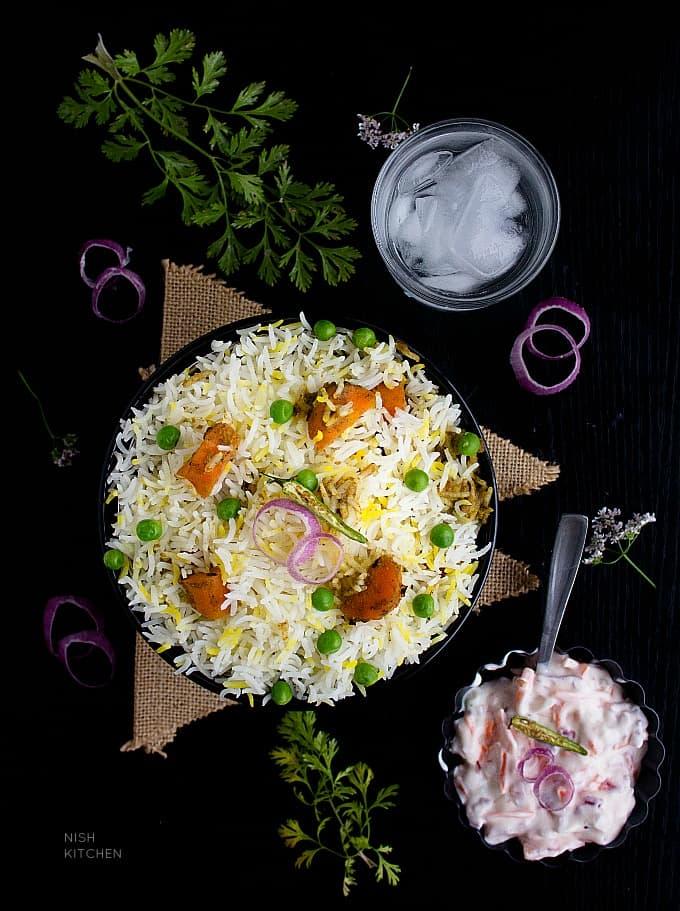 veg dum biryani restaurant style