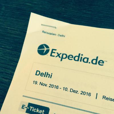 Geburtstagsgeschenk Flug nach Indien