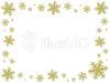 金の雪の結晶フレーム