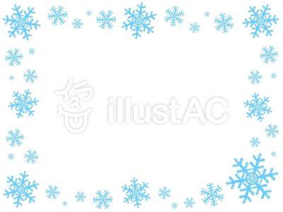 雪の結晶フレーム