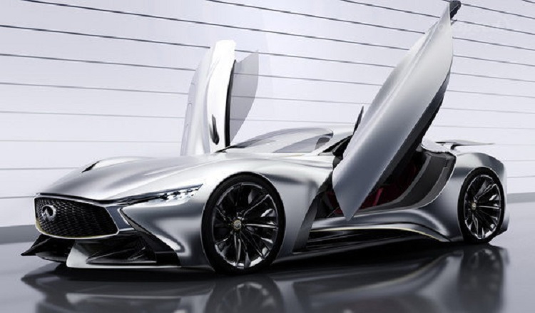 infiniti vision gt supercar concept front view