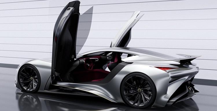 infiniti vision gt supercar concept rear view