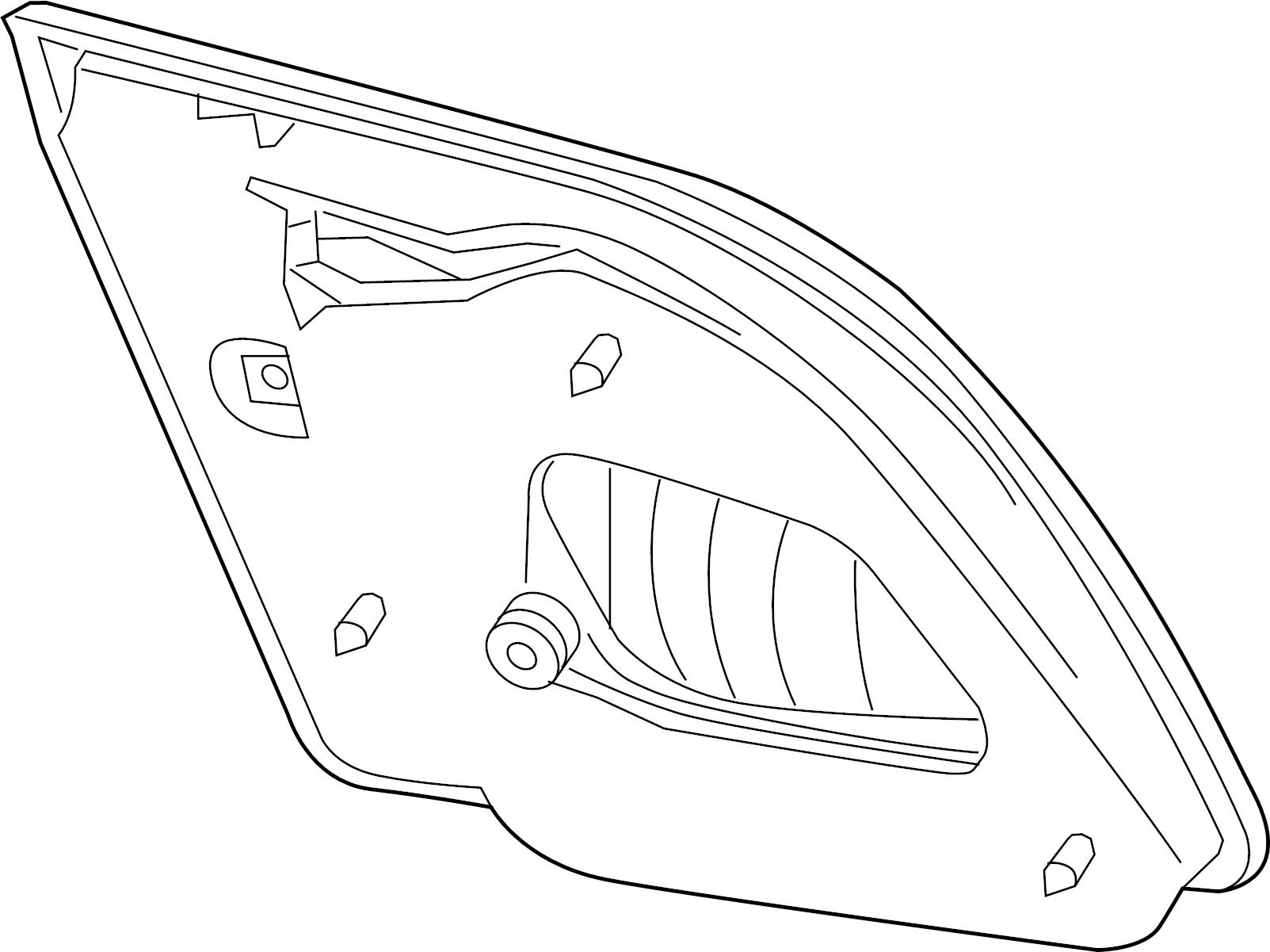 Nissan Sentra Tail Light Right Rear Cal Fed