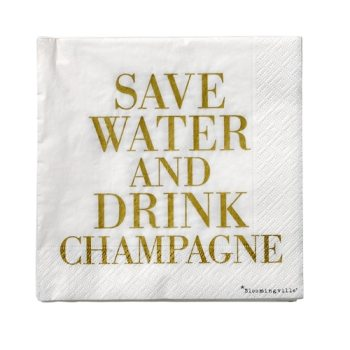 "Servietten - ""Save Water..."" von bloomingville"