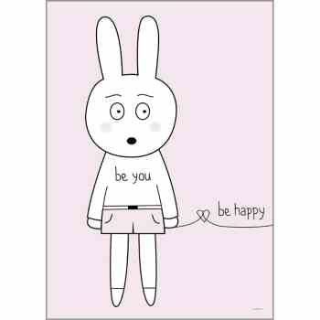 Print - Be You Be Happy von Miniwilla