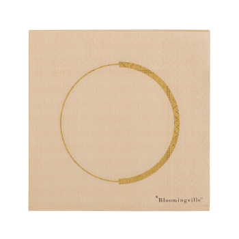 Serviette - Circle gold von Bloomingville