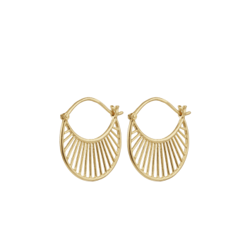 Daylight Earrings gold von Pernille Corydon