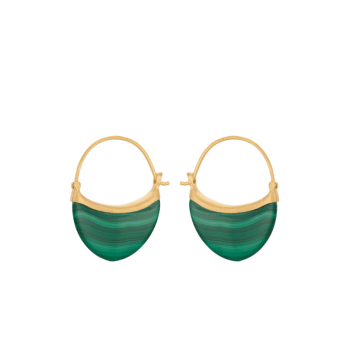 Small Malachite Earrings gold von Pernille Corydon
