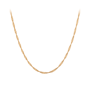 Singapore Necklace Lang gold von Pernille Corydon