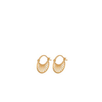 Small Daylight Earrings gold von Pernille Corydon