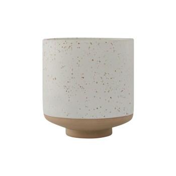 Blumentopf - Hagi white/light brown von OYOY