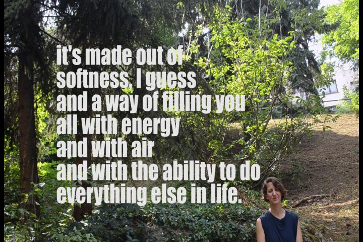 Este făcut din moliciune, cred și un mod de a te umple de energie și de aer și de capacitatea de a face orice altceva în viață.
