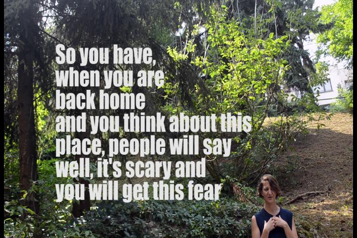 Deci, atunci când te întorci acasă și te gândești la acel loc, oamenii vor spune bine, este înfricoșător și vei avea această frică
