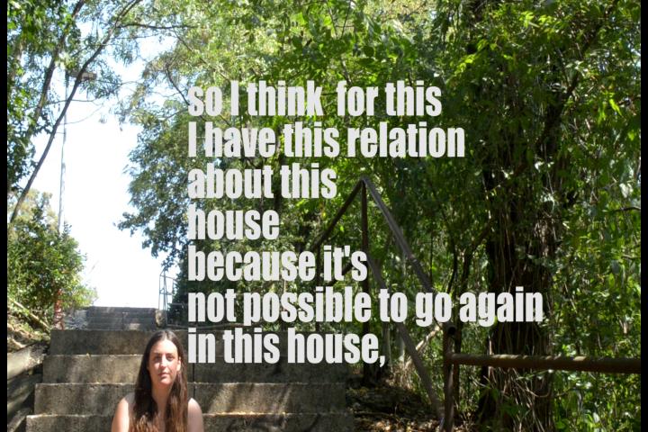 așa că cred că de aceea am legătura cu casa asta, deoarece nu este posibil să merg din nou în această casă