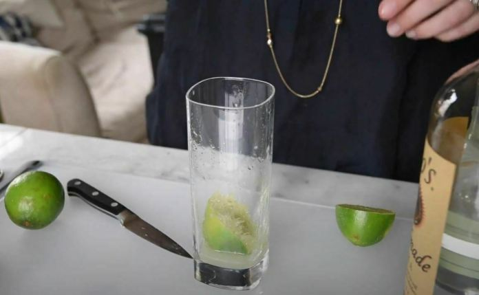 lime in glass