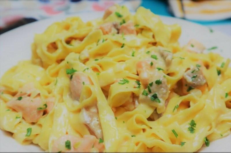 Quick and Easy Salmon Pasta