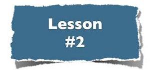 Lesson # 2