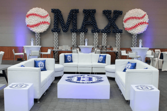 baseball bar mitzvah decor idea
