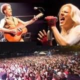 50 mil pessoas assistiram Nando Reis e Paula Toller
