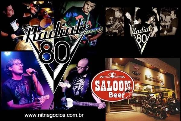 Banda Radial 80 no Saloon Beer Bar