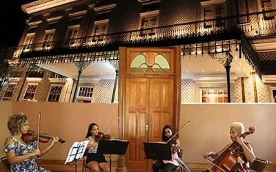 Quarteto de cordas feminino é atração do Sarau no Solar