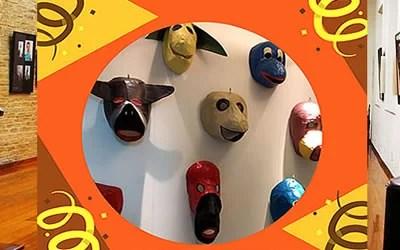 Máscaras de Carnaval na Sala Carlos Couto