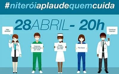 Niterói aplaude quem cuida dia 28 de abril – 20h