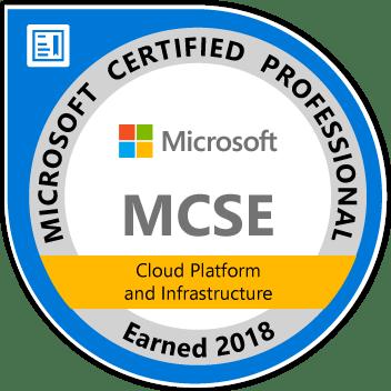 MCSE Cloud Platform 2018
