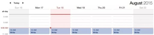 writing and study planner (simple)