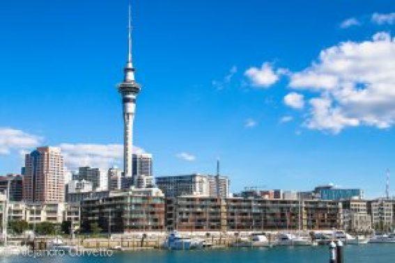 La Skytower, siempre presente en el paisaje de Auckland