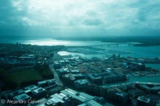 Vista desde la Skytower Auckland