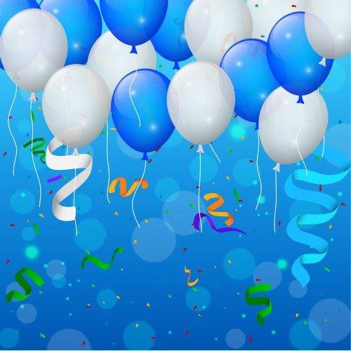 Happy Birthday Vector Backgrounds Balloons 5 187 Nitrogfx