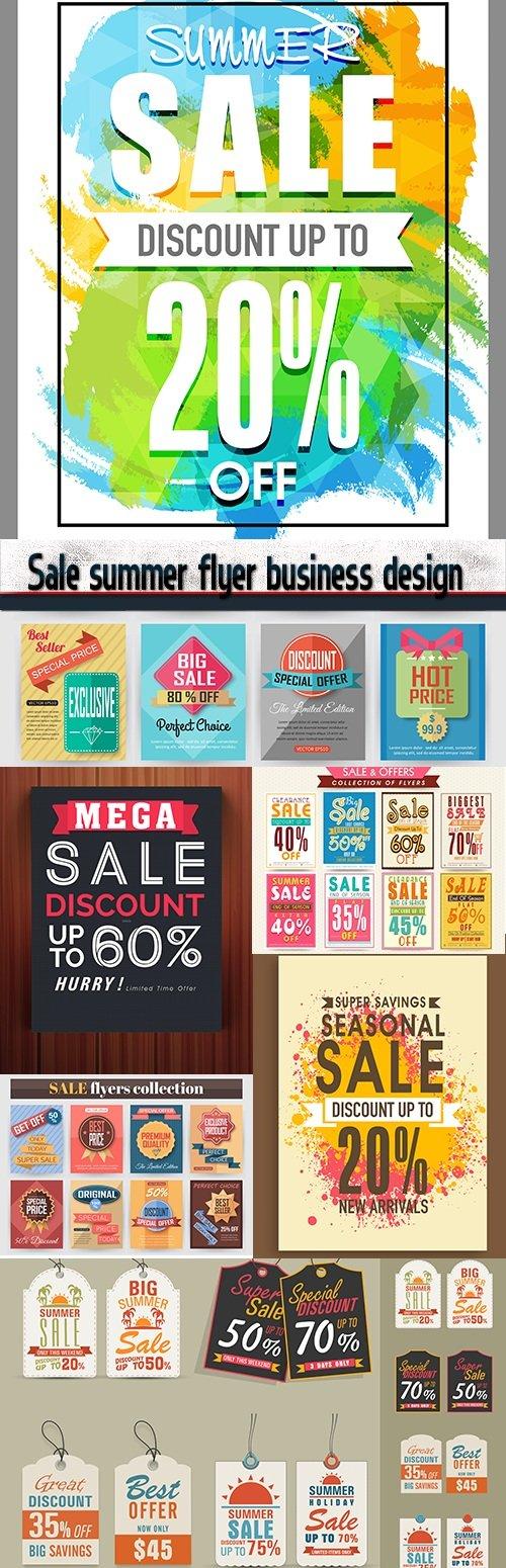Sale summer flyer business design